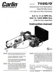 [Thumbnail] 702 G/O Dual Fuel Burner Instruction Manual